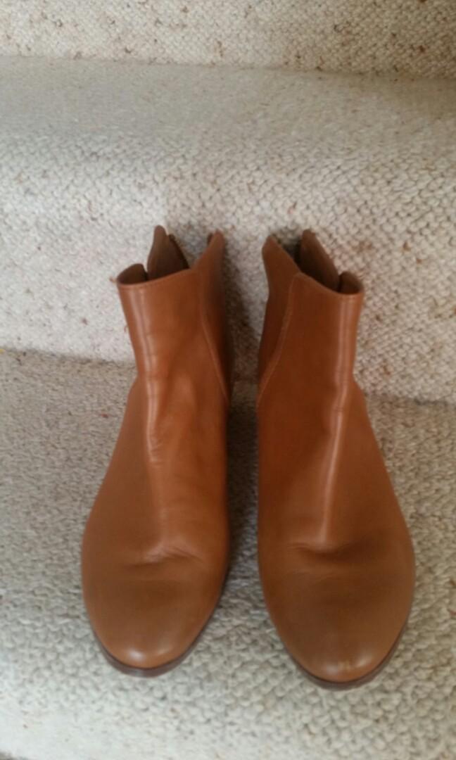 Diana Ferrari Tan Ankle Boots Size 6.5
