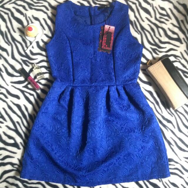 Dress import biru