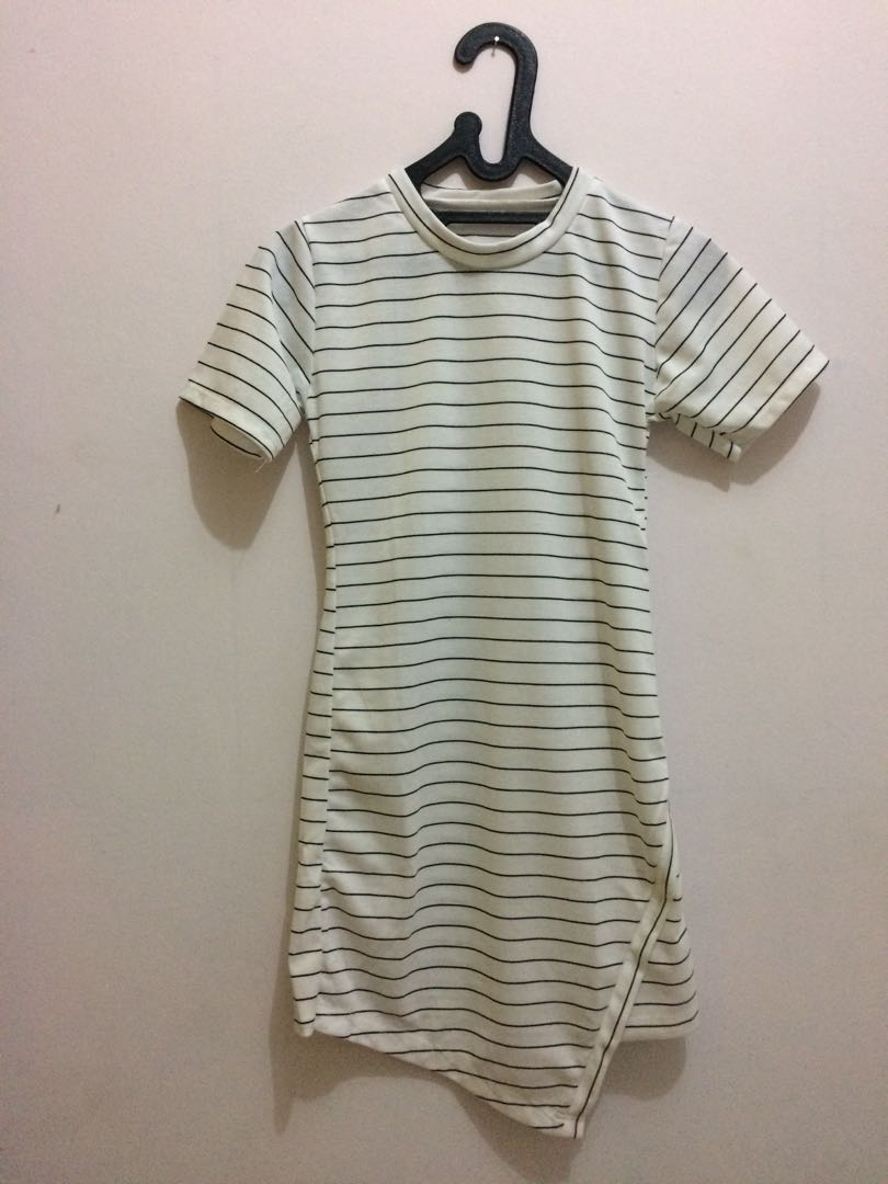 Dress stripe assymetrical
