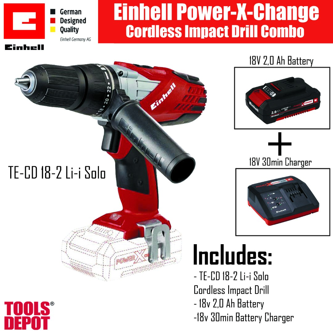 einhell power x-change impact drill combo, home & furniture, others