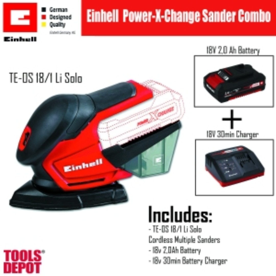 einhell power x-change multiple sanders combo, home & furniture