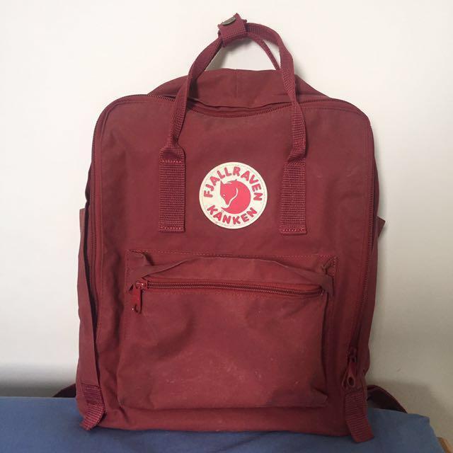 Fjallraven kanken classic backpack bag ox red