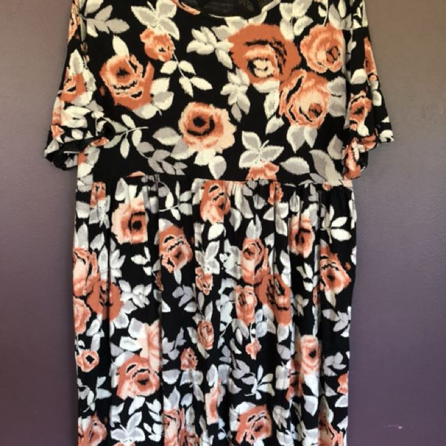 Floral baby doll dress