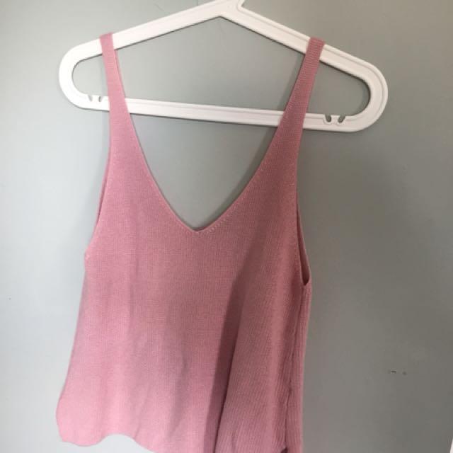 Forever 21 blush pink tank