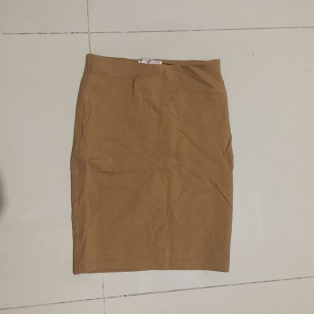 Forever 21 Brown Fitted Skirt