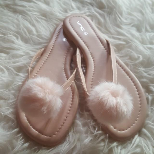 Fur sandals (softpink)