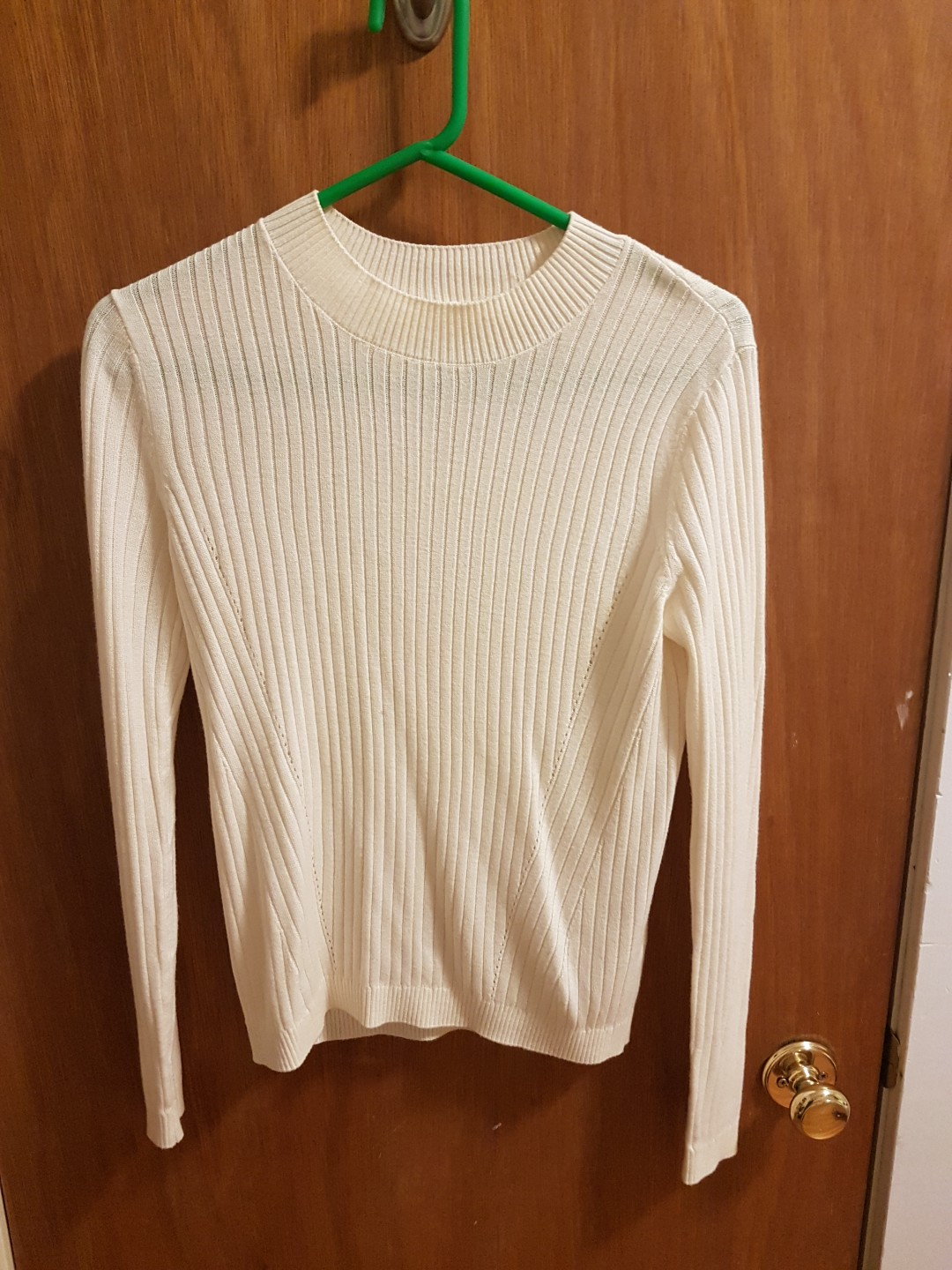 Garage Cream Knit Fitted Sweater