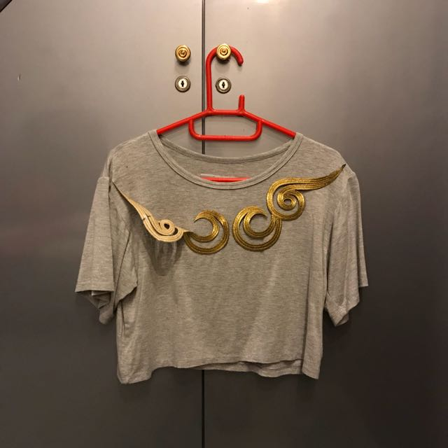 Golden Swirl Crop Top