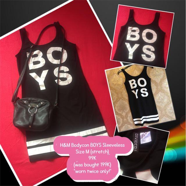 H&M Bodycon BOYS Sleeveless