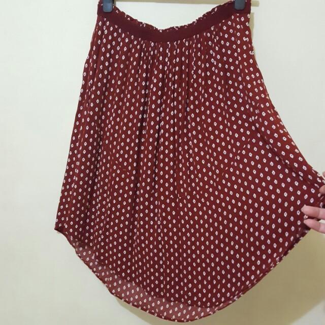 H&M Pleated Assymetrical Summer Skirt