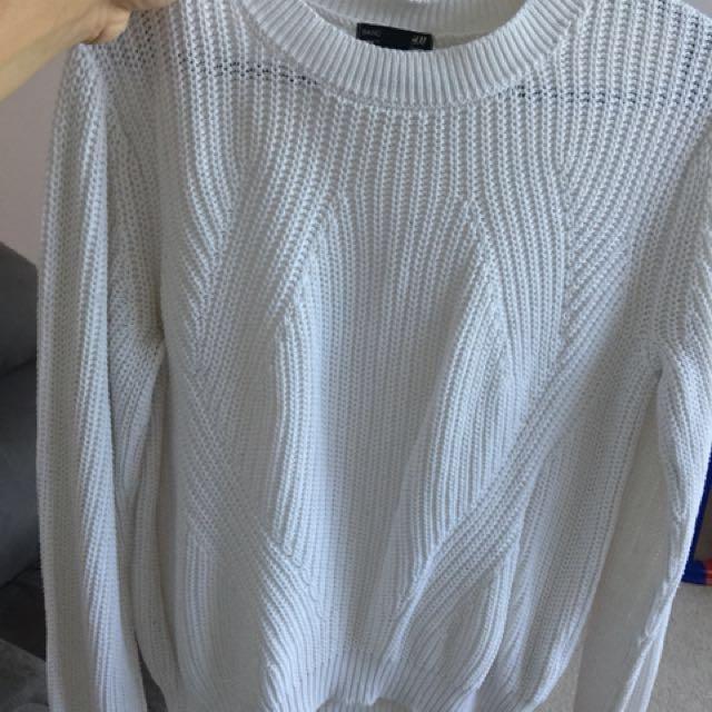 H&M white jumper