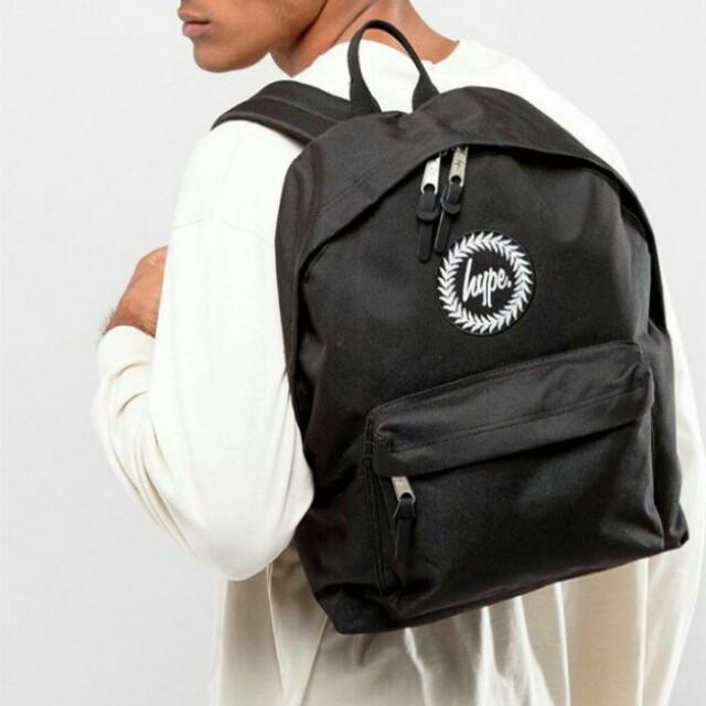 (可小議)hype 黑色經典款後背包