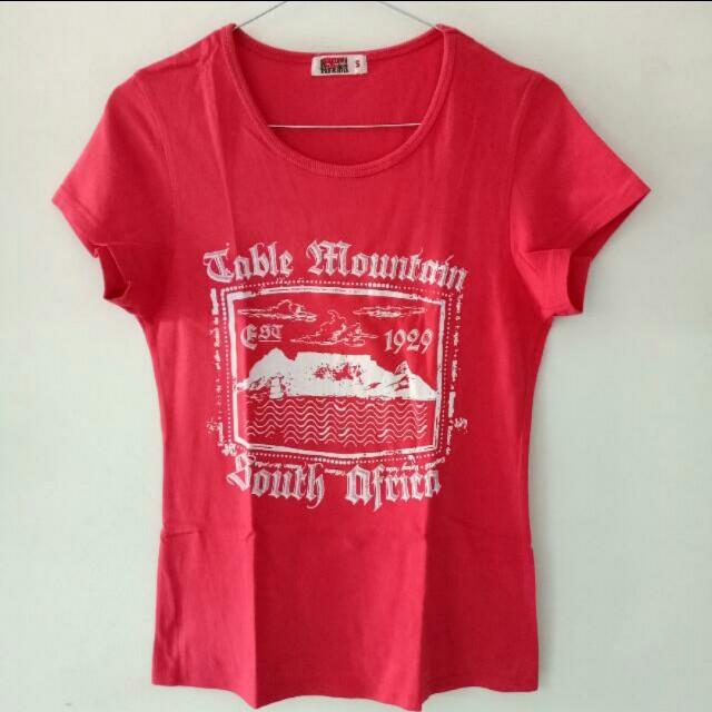 INCLUDE ONGKIR JABODETABEK - Kaos africa / pink t-shirt