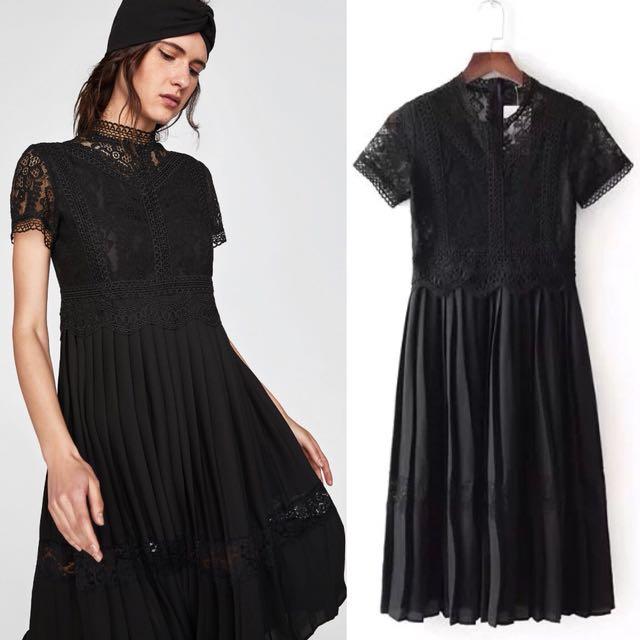 00dcfd46 zara black long sleeve dress – Little Black Dress | Black Lace ...