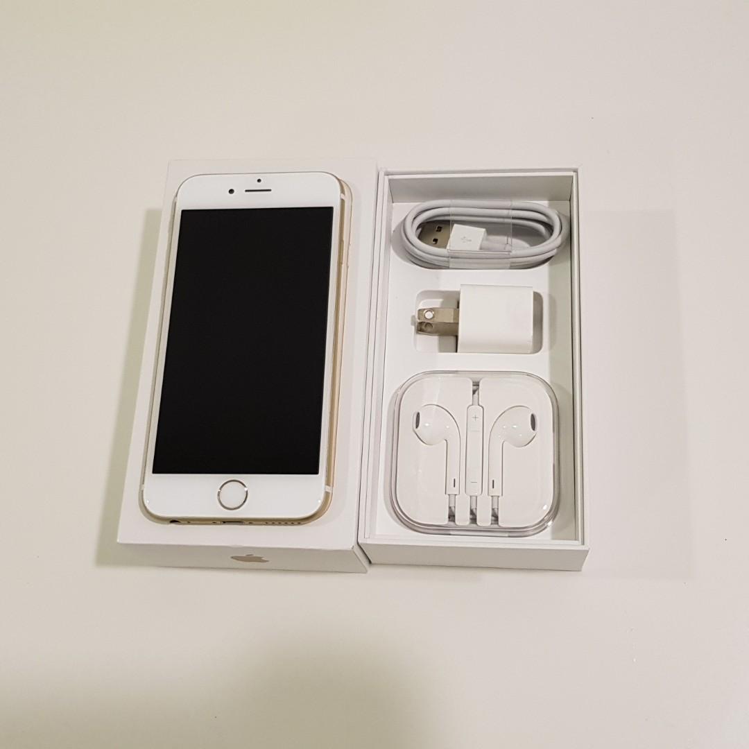 iPhone 6S 64G 金色 4.7吋 台積核心 九成新 盒裝&全新耳機 仍順暢使用