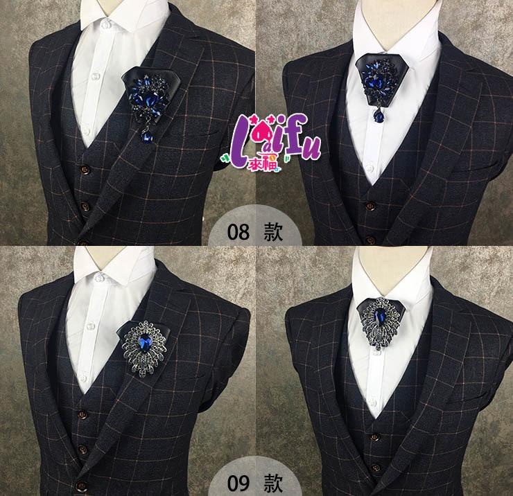 .°。.☆小婷來福*.。°k1103領結閃亮低奢領結結婚領花皮質新郎領結胸針胸花,售價399元