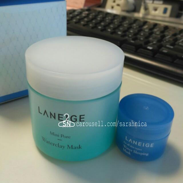 Laneige mini pore waterclay mask FREE water sleeping mask