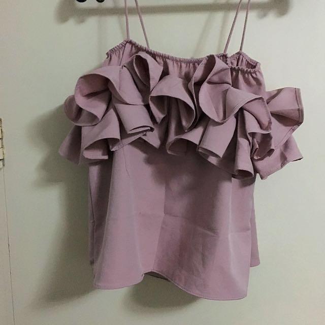 Lavender Ruffled top