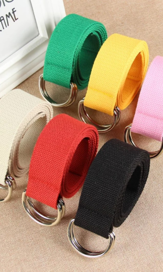 Men fashion Belt Casual ring buckle belts Canvas Swag Style Easy Cool