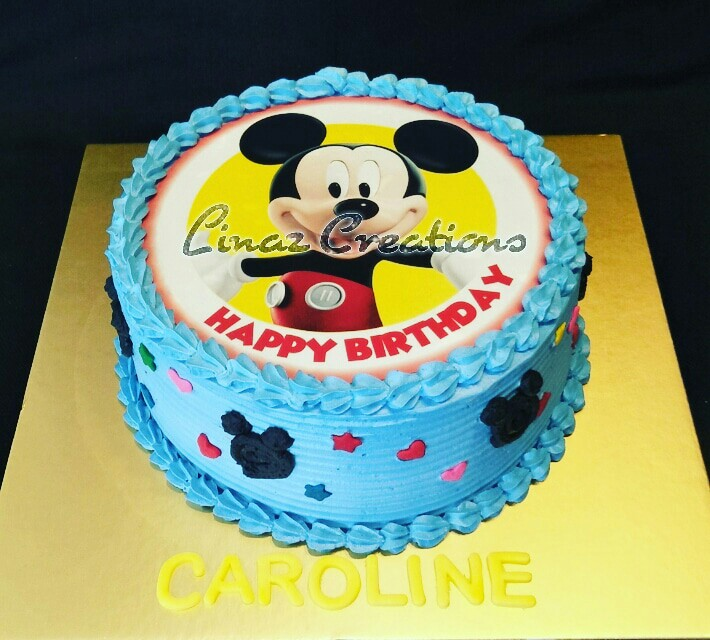 1kg Mickey Mouse Theme Birthday Cake Need A Customised