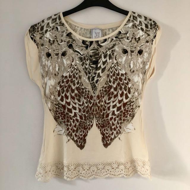 MNG mango owl shirt