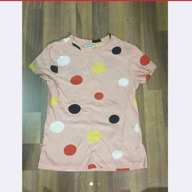 Monki crop top with polka dot