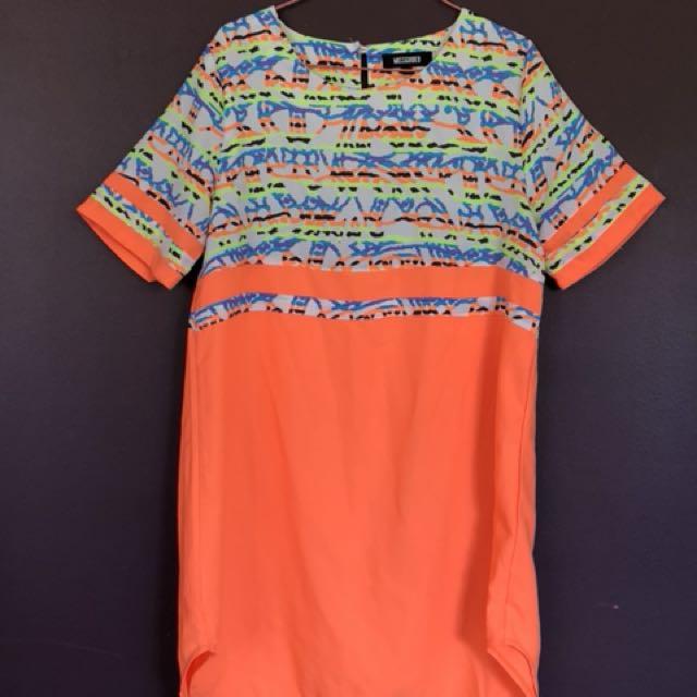 Multicoloured t-shirt style dress