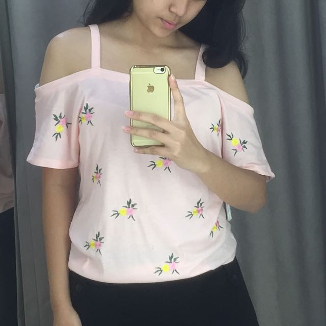 New Look Pink Floral Top