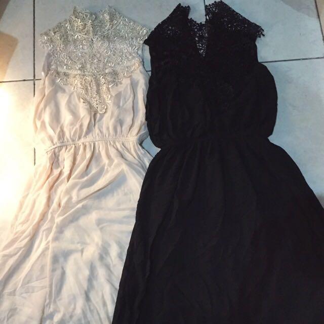 New! Sisa butik! Crochet maxi dress