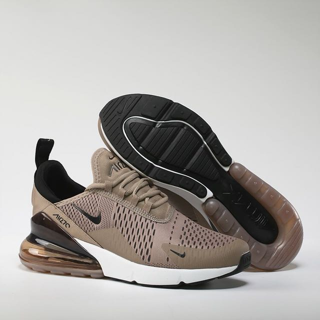 Nike Air Max 270 Athletic Running Sneakers Sepia Stone Brown (Uk 4.5 /Euro 37,5 ), Sports, Athletic & Sports Clothing on Carousell