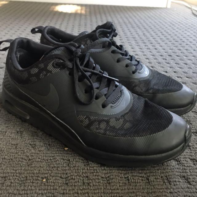 Nike womens air max thea black leopard trainers