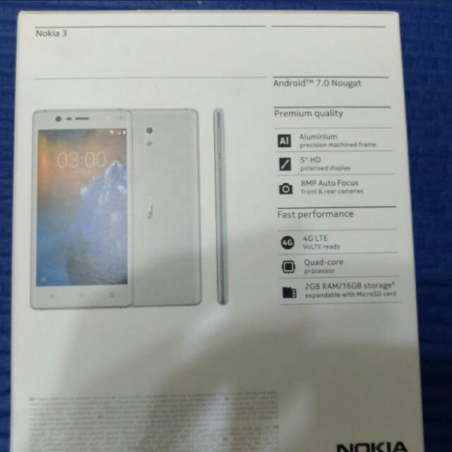 Nokia 3   brand new.