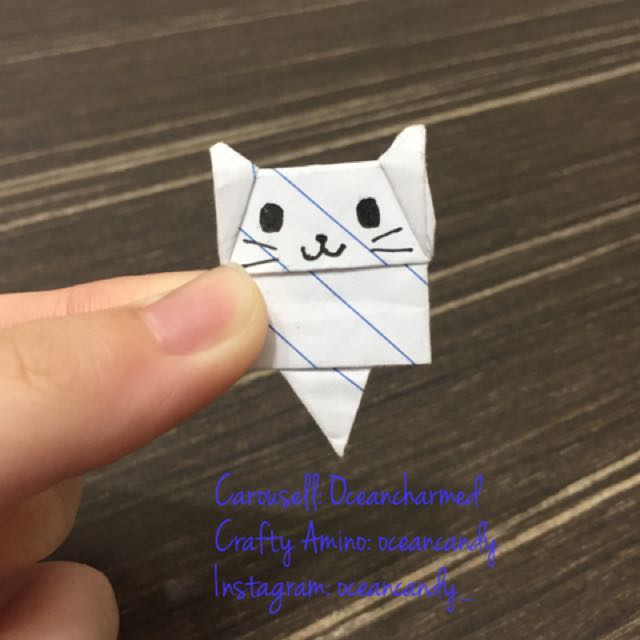 Origami Cat Bookmark Di Carousell