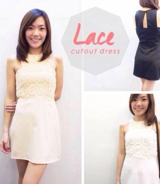 Peach Lace Dress
