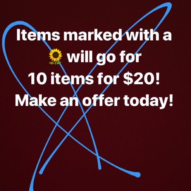 Pick 10 for $20! 🌻🌻🌻
