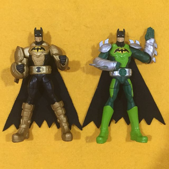 "Preloved 2011 Mattel DC Comics Power Attack Deluxe Turbo Punch and Saw Slash 6"" Batman Figure Set of 2 figures"