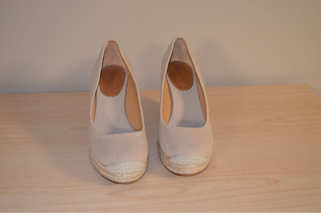 Preloved Jcrew wedge shoes 7