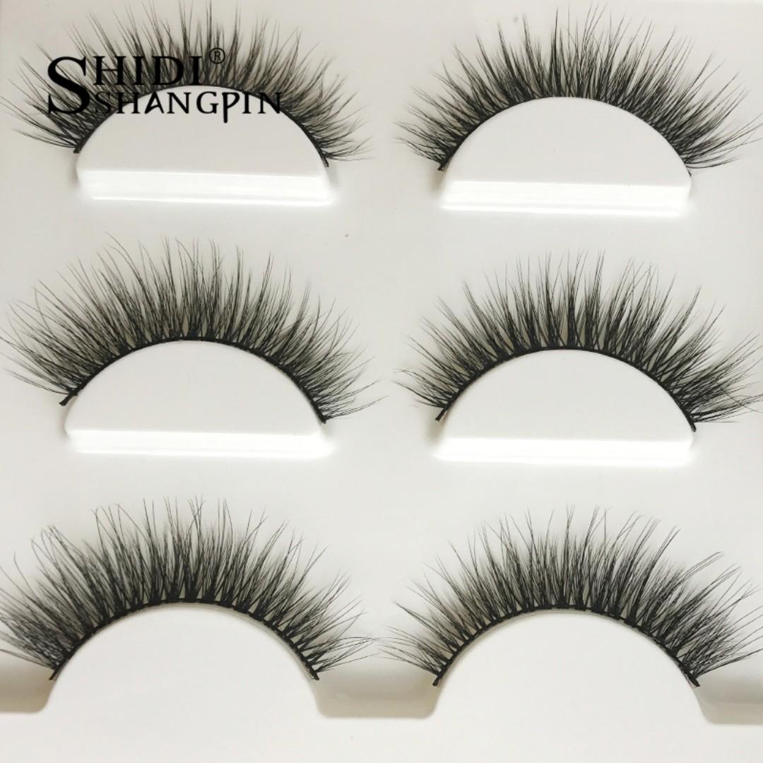 PREORDER! FREE POSAGE New 3 pairs natural false eyelashes fake lashes long makeup 3d mink lashes extension eyelash mink eyelashes for beauty