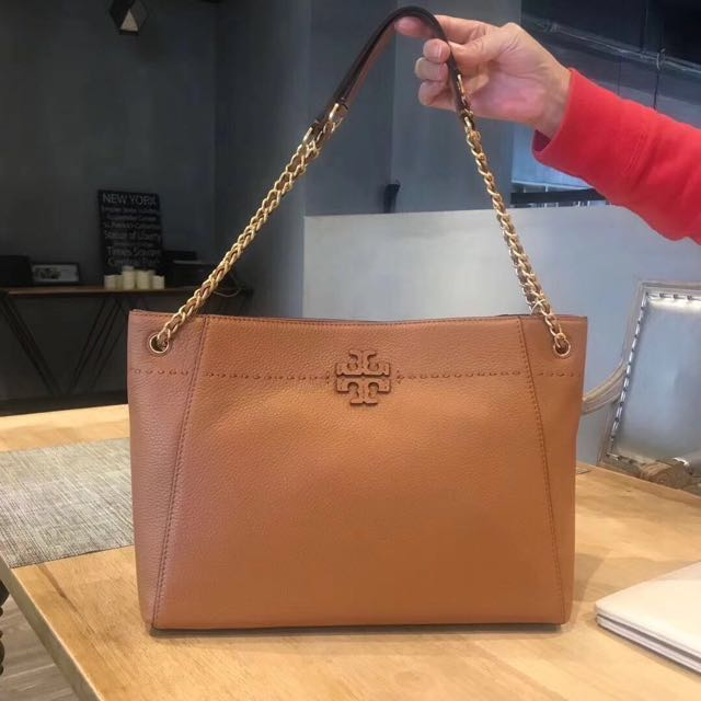 bec67667d8e  Preorder  Tory Burch MCGRAW Chain Shoulder Slouchy Tote