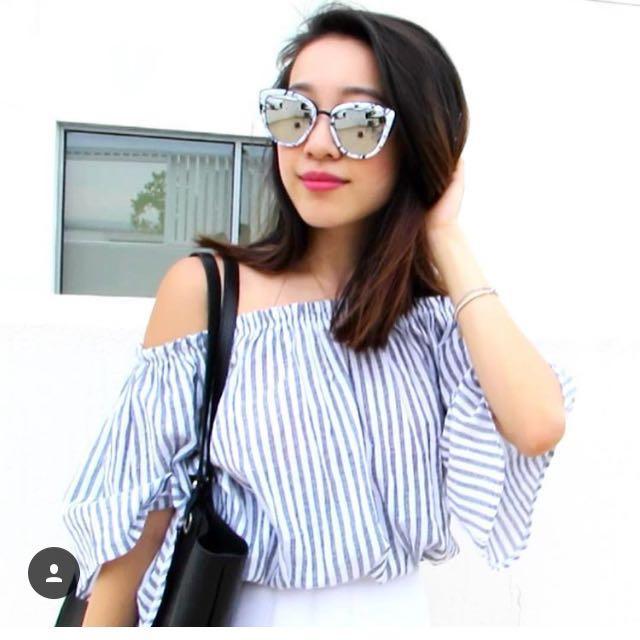QUAY AUSTRALIA x ASOS All My Love Marble Print Sunglasses