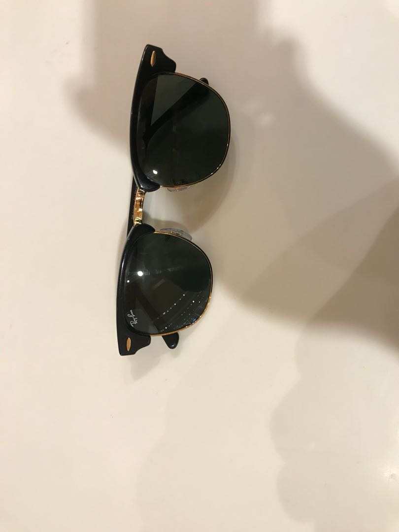 Rayban black clubmaster size 49