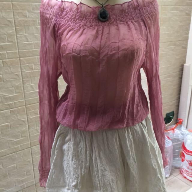 Sabrina shirt and skirt
