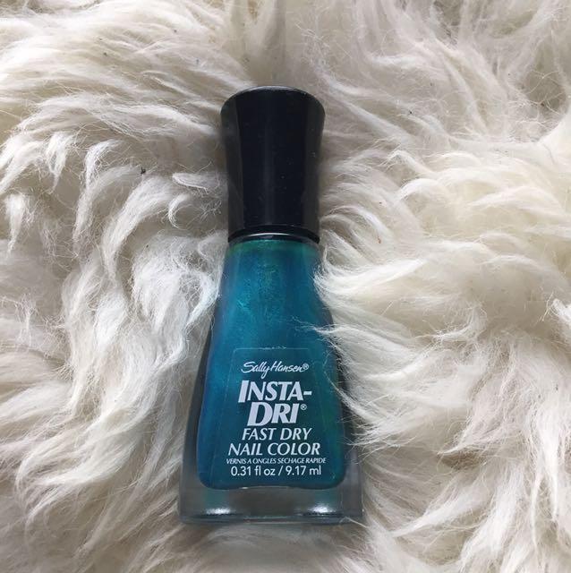 Sally Hanson Blue Green Shimmer Nail Polish