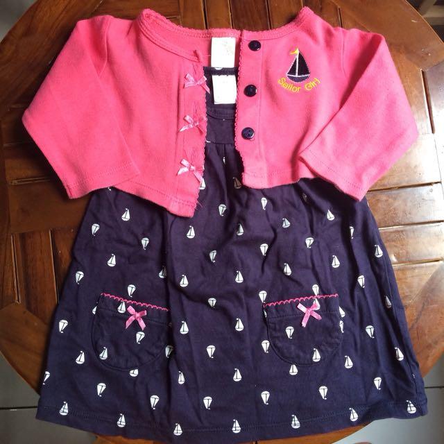 Set sailor baby girl made in Thailand