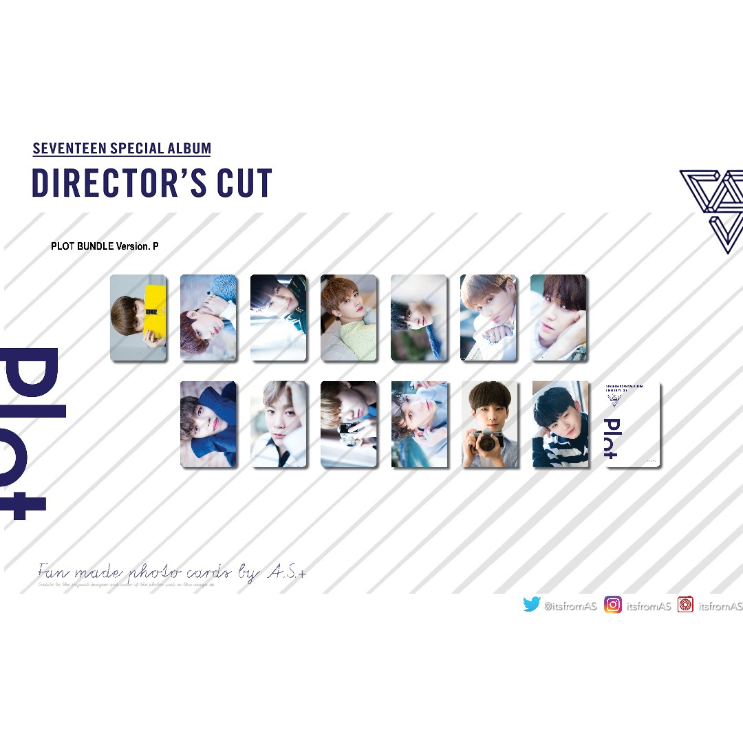 SEVENTEEN Director's Cut PLOT Fan made Photo Cards