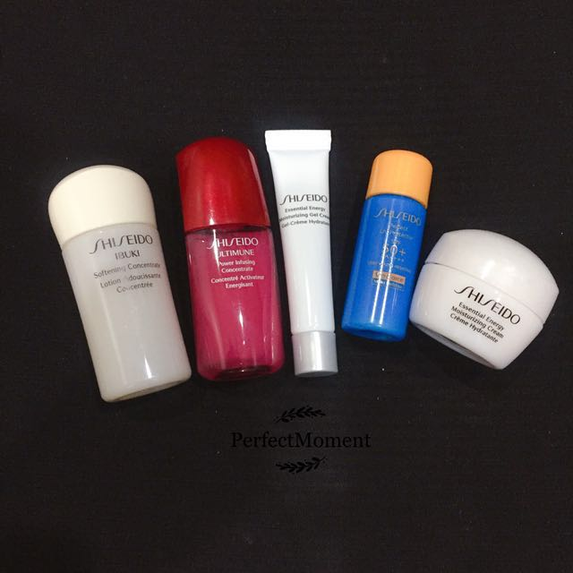 Shiseido skincare sample set