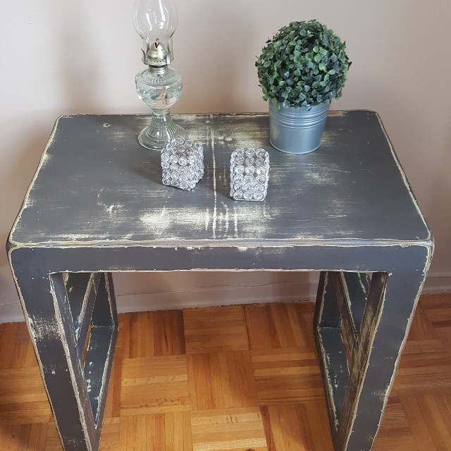 Rustic side table/ night table