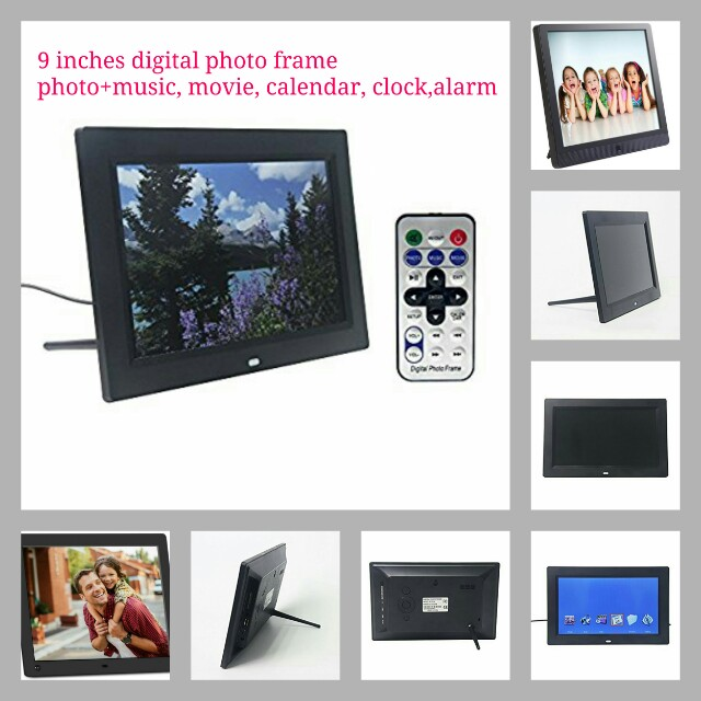 Signstek 9 Inch Digital Photo Frames with Auto On/Off Timer, MP3 and ...