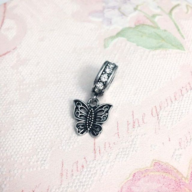 Similar to Pandora Silver Butterfly Pendant Charm