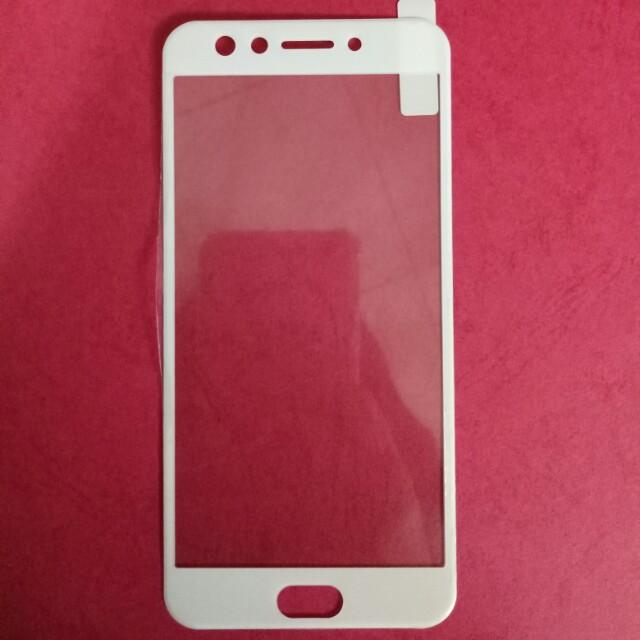 Tempered Glass Full Oppo F3 - White